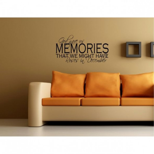 God Gave us Memories Wall Decal