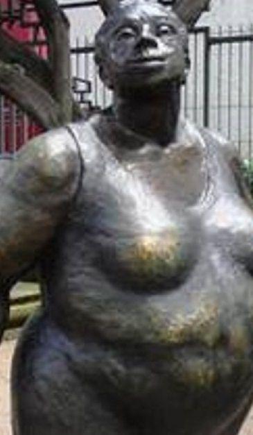 "The Famous ""La Chola""  statue in downtown San Jose"