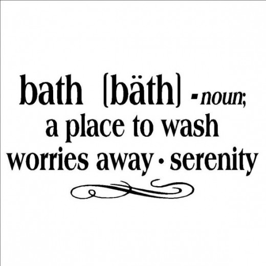Bath a place to wash worries away bathroom wall quote