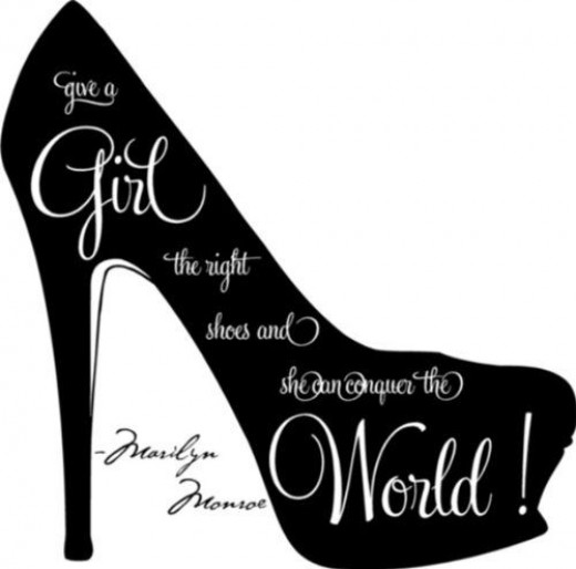 Large High Heel with Famous Shoe Quote