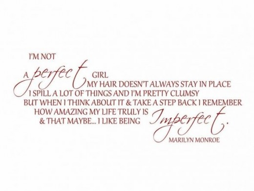 I'm Not a Perfect Girl Wall Quote