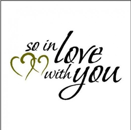 In Love With You Wall Lettering