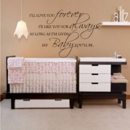 I'll Love You Forever, I'll Like You For Always (Baby Wall Lettering)