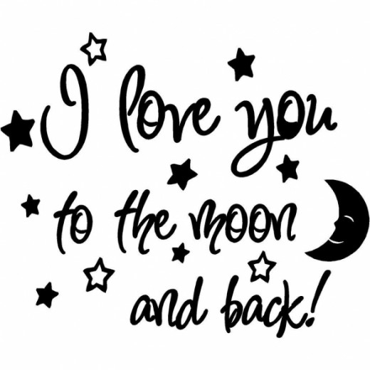 I Love You to the Moon and Back, Baby wall Quote