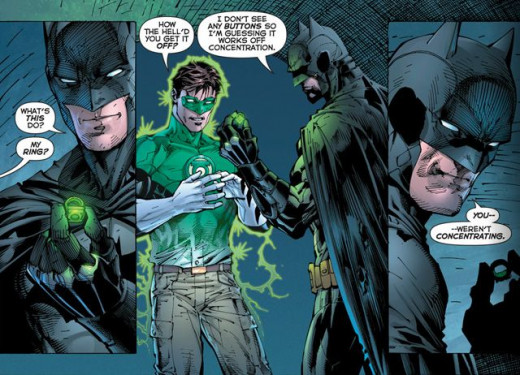 A New 52 comic image that was in the Movie