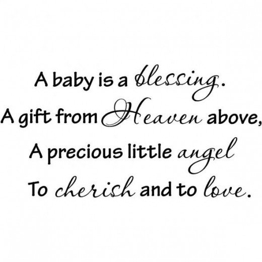 A baby is a blessing...Baby Wall Decal