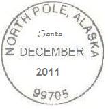 North Pole Alaska postmark