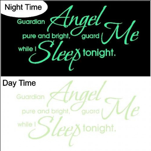 Glow in the Dark Baby Wall Quote