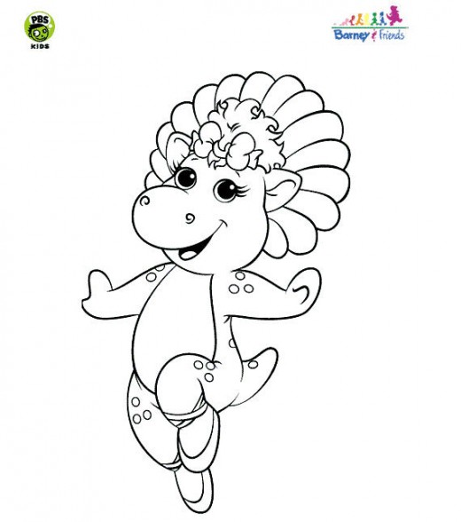Baby Bop picture coloring