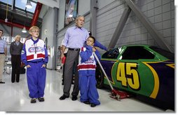 President George W. Bush and His Very Special Pit Crew