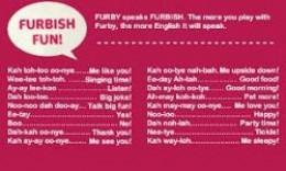 how to speak furby language