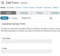 Build Customer Survey Form