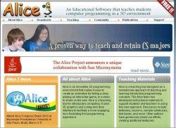 The Alice programming language for children