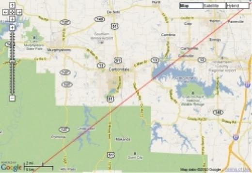 Carbondale 2024 total solar eclipse center