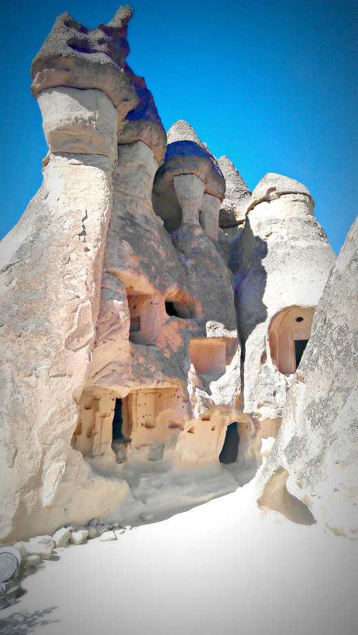 Fairy Chimney Houses in Cappadocia, Monks Valley. We visited this site on our day tour (details below).