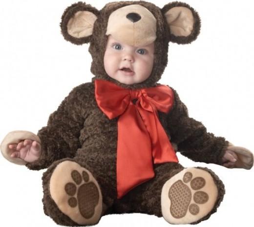 Lil Characters Unisex-baby Newborn Teddy Bear Costume