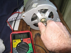 PMA Alternator Producing Power with hand turning