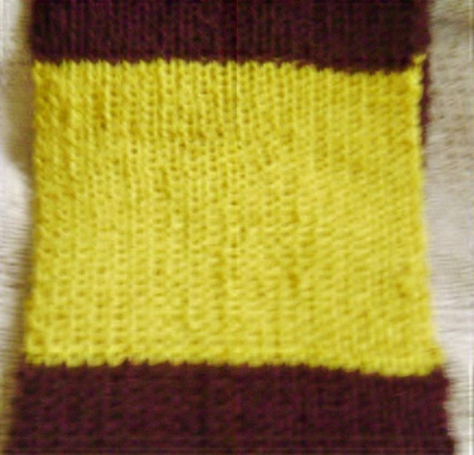 Close-up of Gryffindor colors