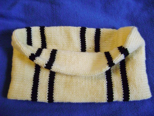 Tubular striped cowl from Book 3 (Knitted Cowls from FiberFrau)