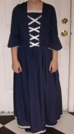 navy colonial dress