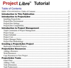 ProjectLibre Table of Contents