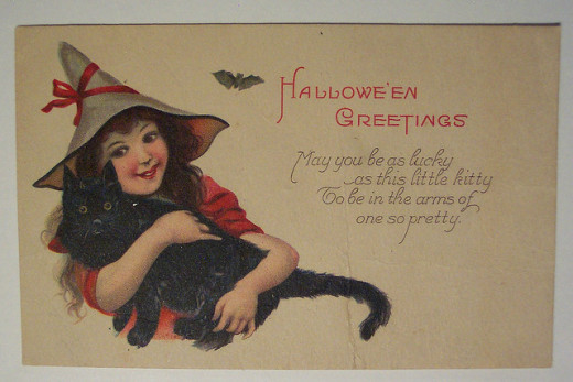 Images of pretty witches on postcards were almost as popular as their uglier counterparts.