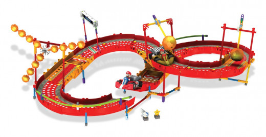 K'NEX Nintendo Mario Kart Wii Mario and Diddy Kong Fire Challenge Building Set