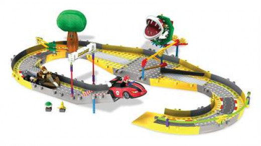 Mario Kart Wii Mario and Donkey Kong Circuit Start Line Building Set