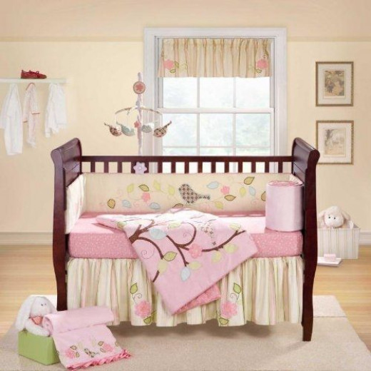 Lovebird 4-Piece Crib Bedding Set