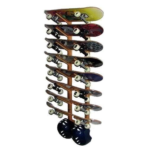 Del Sol Racks Skateboard Rack 8 Space Angle