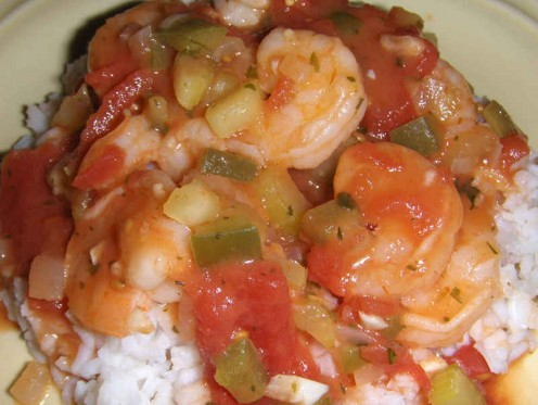 Shrimp Creole...if it's just a little bit spicy, it's just about right