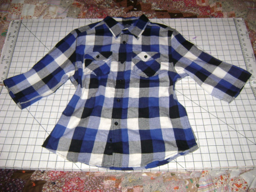 Girl's shirt after restyling