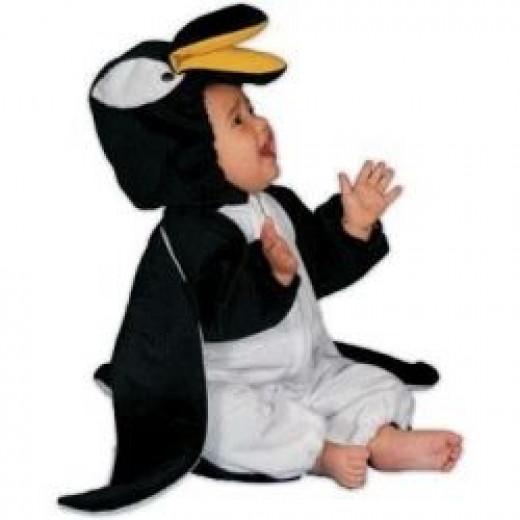 Kids Plush Penguin Infant Costume