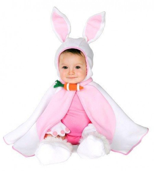 Rubies Baby White Rabbit Cape Infant Kids Easter Bunny Costume