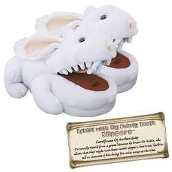Toy Vault Rabbit with Big Pty Teeth Slippers