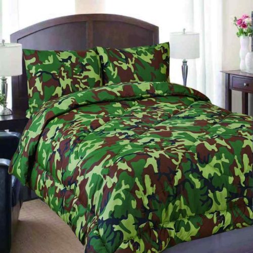 Reversible Comforter Military Camouflage Print