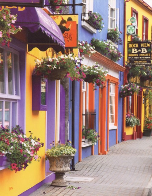 Kinsale in County Cork.  A very beautiful, colourful place.