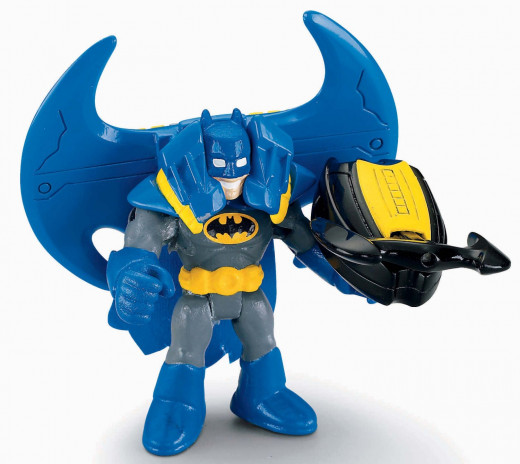 Imaginext DC Super Friends Batman Mini Figure [Blue Cape]