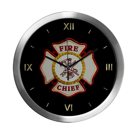 Fire Chief wall clocks and great symbols of firefighting pride