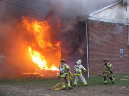 Structure Fire Flames Showing