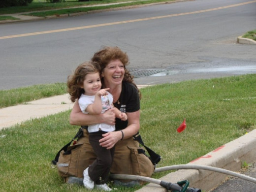 Sharing what you love whether it's the fun of the fire hose, washing the fire truck or showing off your family makes everything count even more