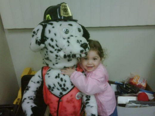 Sparky the fire dog is part of the family too, the kids always want to know what we feed him