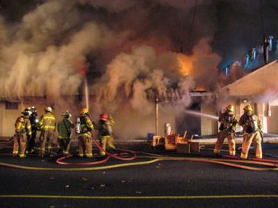Hotel Fire Fully Involved On Arrival