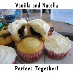 Vanilla and Nutella Cupcakes