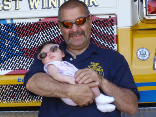 Fire Chief and Granddaughter Engine 46-1