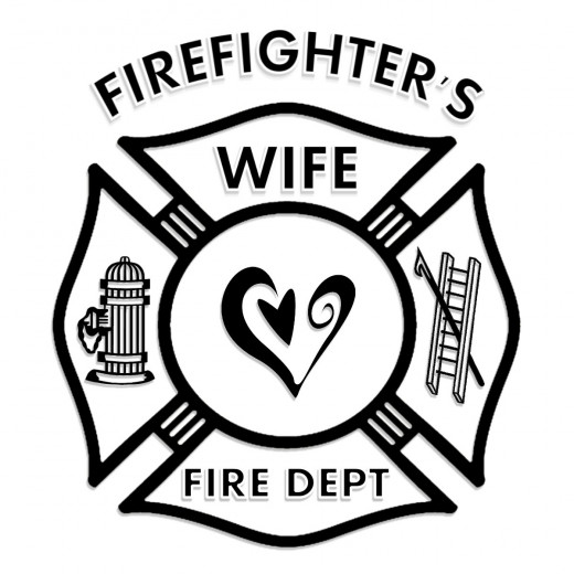Firefighters Wife Fire Dept Logo