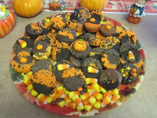 Halloween Chocolate Dipped Cookies