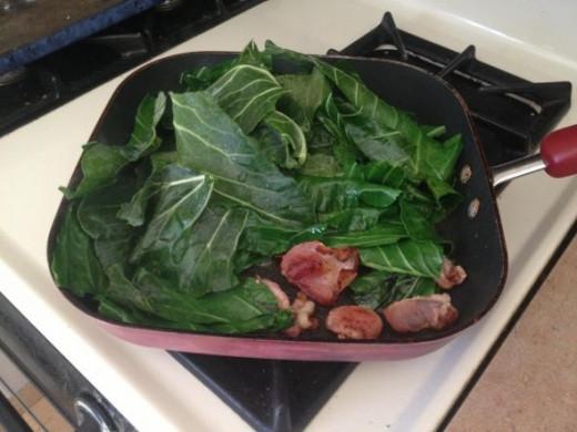 Green Over Bacon
