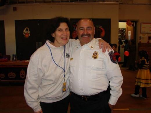Fire Chief Barry Rashkin and Mayor Janice Mironov