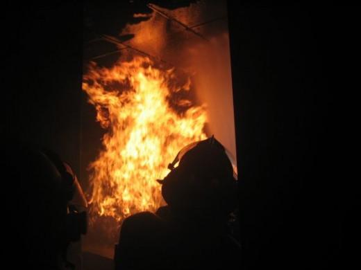 Firefighter Live Burn Training